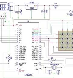 electronic code lock using 8051 circuit diagram [ 1200 x 697 Pixel ]