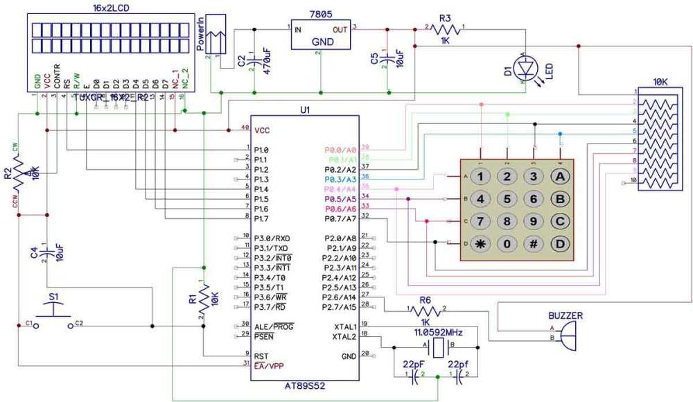 medium resolution of electronic code lock using 8051 circuit diagram