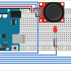 Breadboard Wiring Diagram Dual Marine Battery Interfacing Joystick With Arduino
