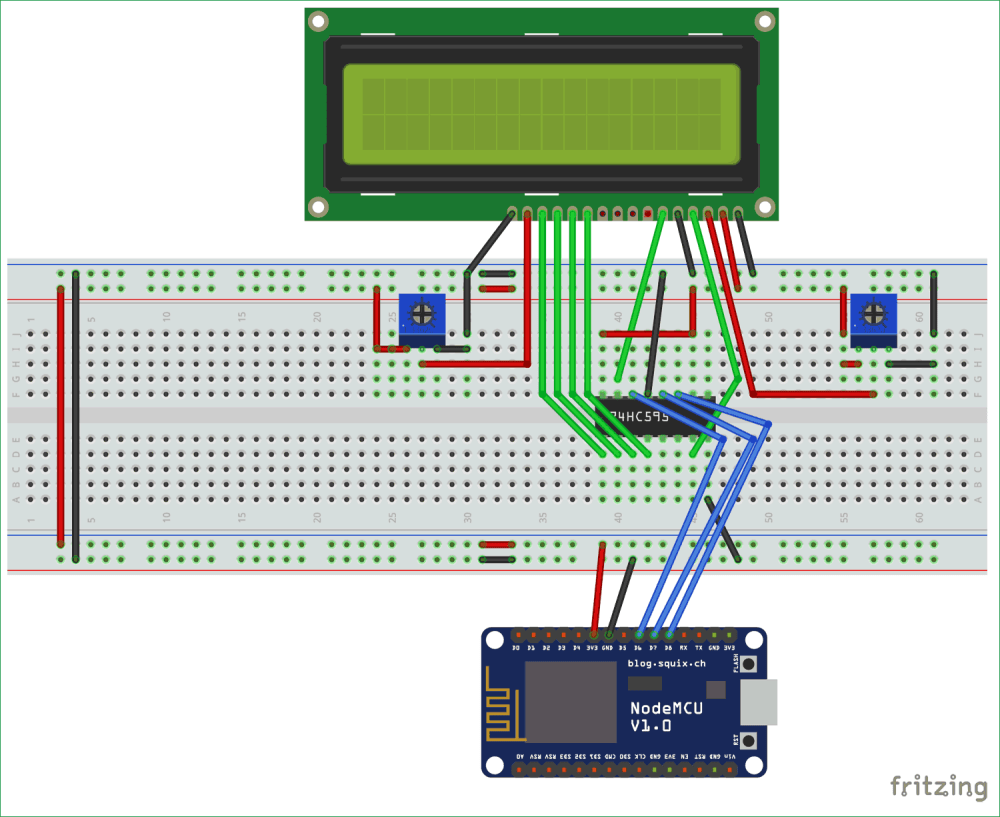 medium resolution of interfacing circuit diagram of lcd with esp12 using shift register sn74hc595n
