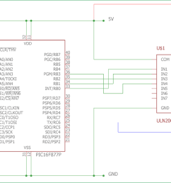 interfacing circuit diagram of stepper motor with pic micro controller [ 1500 x 689 Pixel ]