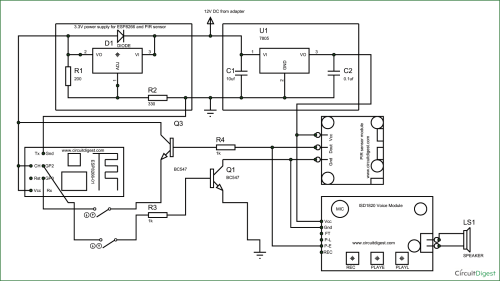 small resolution of circuit diagram for esp8266 security system project