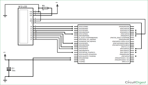 small resolution of raspberry pi lcd interfacing circuit diagram