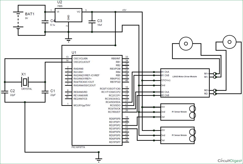 medium resolution of line follower circuit diagram line follower robot diagram wiring circuit diagram of line follower robotic vehicle
