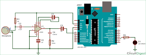 small resolution of measuring sound in db with microphone and arduino circuit diagram