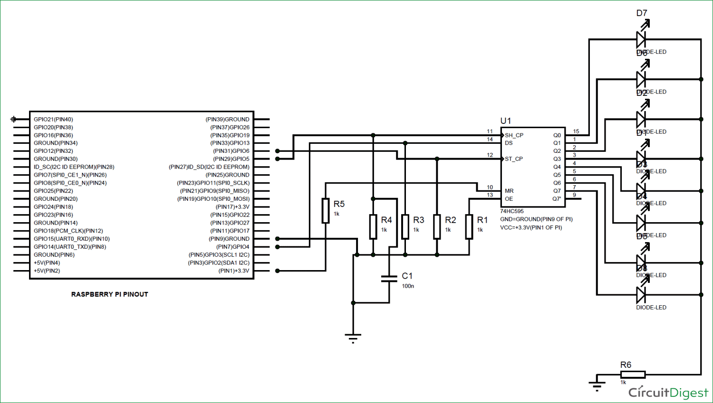 hight resolution of raspberry pi 74hc595 shift register tutorial rh circuitdigest com arduino shift register shift register d flip flop