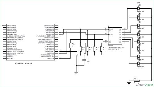 small resolution of raspberry pi 74hc595 shift register tutorial rh circuitdigest com arduino shift register shift register d flip flop