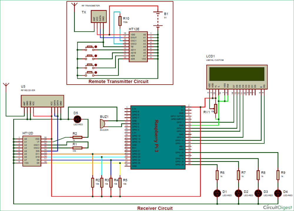 medium resolution of raspberry pi rf remote control circuit diagram