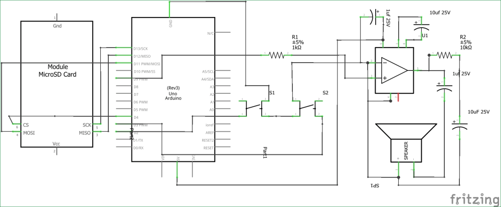 medium resolution of simple arduino audio player with lm386 amplifier circuit diagram