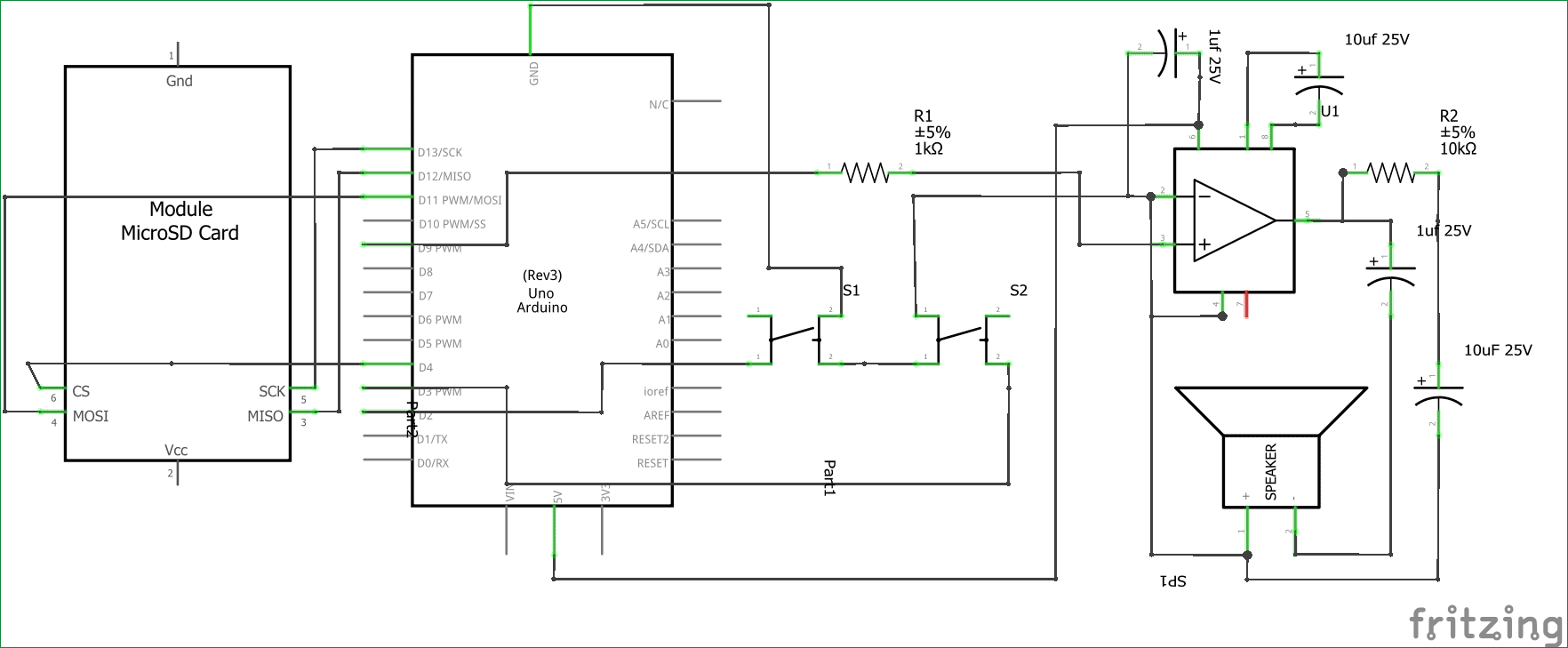 hight resolution of simple arduino audio player with lm386 amplifier circuit diagram