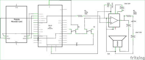 small resolution of simple arduino audio player with lm386 amplifier circuit diagram