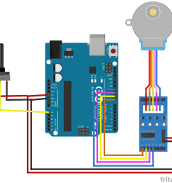 stepper motor control with potentiometer and arduino stepper driver diagram also 4 wire stepper motor wiring also gibson [ 1000 x 950 Pixel ]