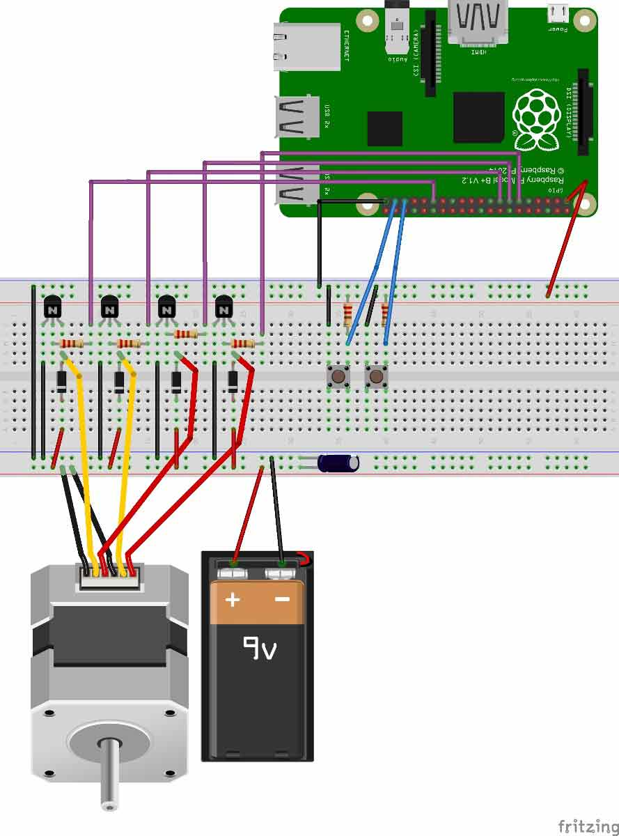 medium resolution of stepper motor control with raspberry pi laptop power supply also stepper motor driver circuit diagram besides