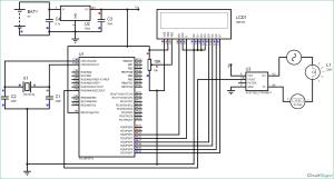 Digital Ammeter Circuit using PIC Microcontroller and ACS712
