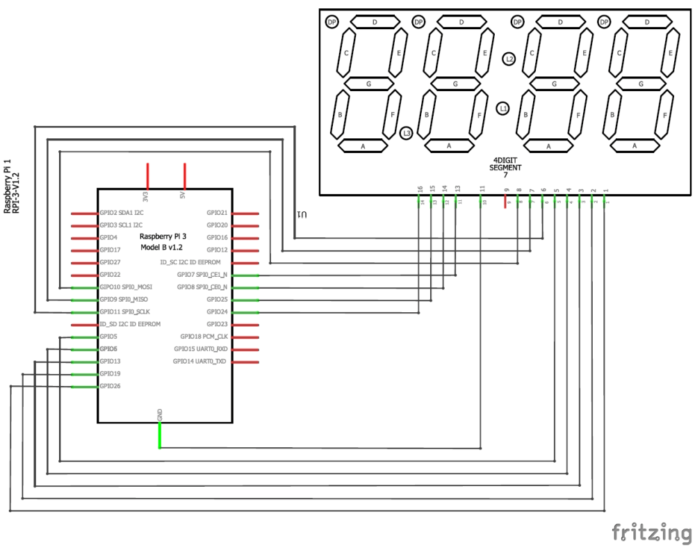 medium resolution of interfacing 4 digit 7 segment with raspberry pi circuit diagram