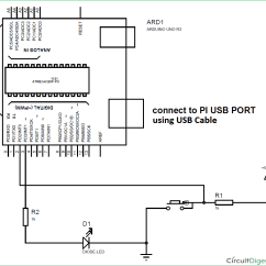 Raspberry Pi 3 Model B Wiring Diagram Iveco Daily English Interfacing Arduino With Using Serial Communication Circuit