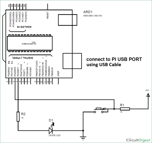 small resolution of interfacing arduino with raspberry pi circuit diagram