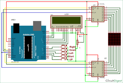 small resolution of 8x8 led matrix using arduino microcontroller circuit diagram code wiring diagram for you