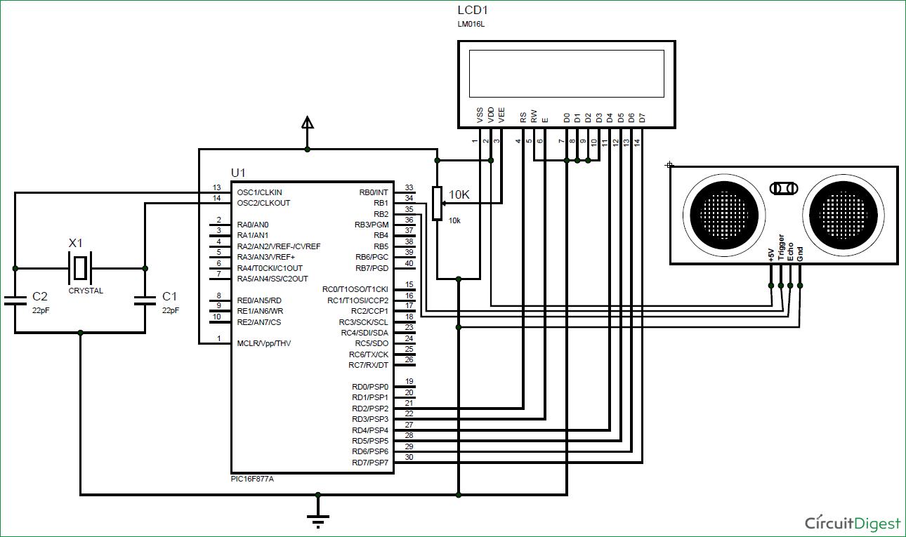 Interfacing Ultrasonic Sensor HC-SR04 with PIC