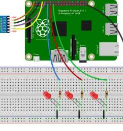 voice controlled leds using raspberry pi circuit diagram [ 1200 x 864 Pixel ]
