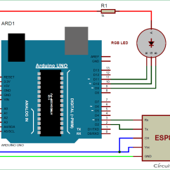 Led Circuit Diagram Of Circulatory System Printable Arduino Rgb Controller Using Wifi And