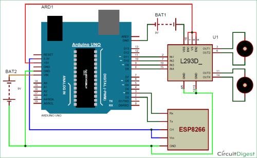 small resolution of wi fi controlled mobile robot circuit diagram