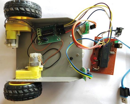 Circuit Diagram Of Line Follower Robot Using Pic Microcontroller