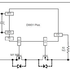 Mobile Block Diagram Circuit 2001 Honda Crv Parts Diy Power Bank How To Make A For Your Dw01x Single Cell Lithium Ion Battery Protection Ic With Dual Mosfet Control Feature Below Is Application Test Provided In The Datasheet