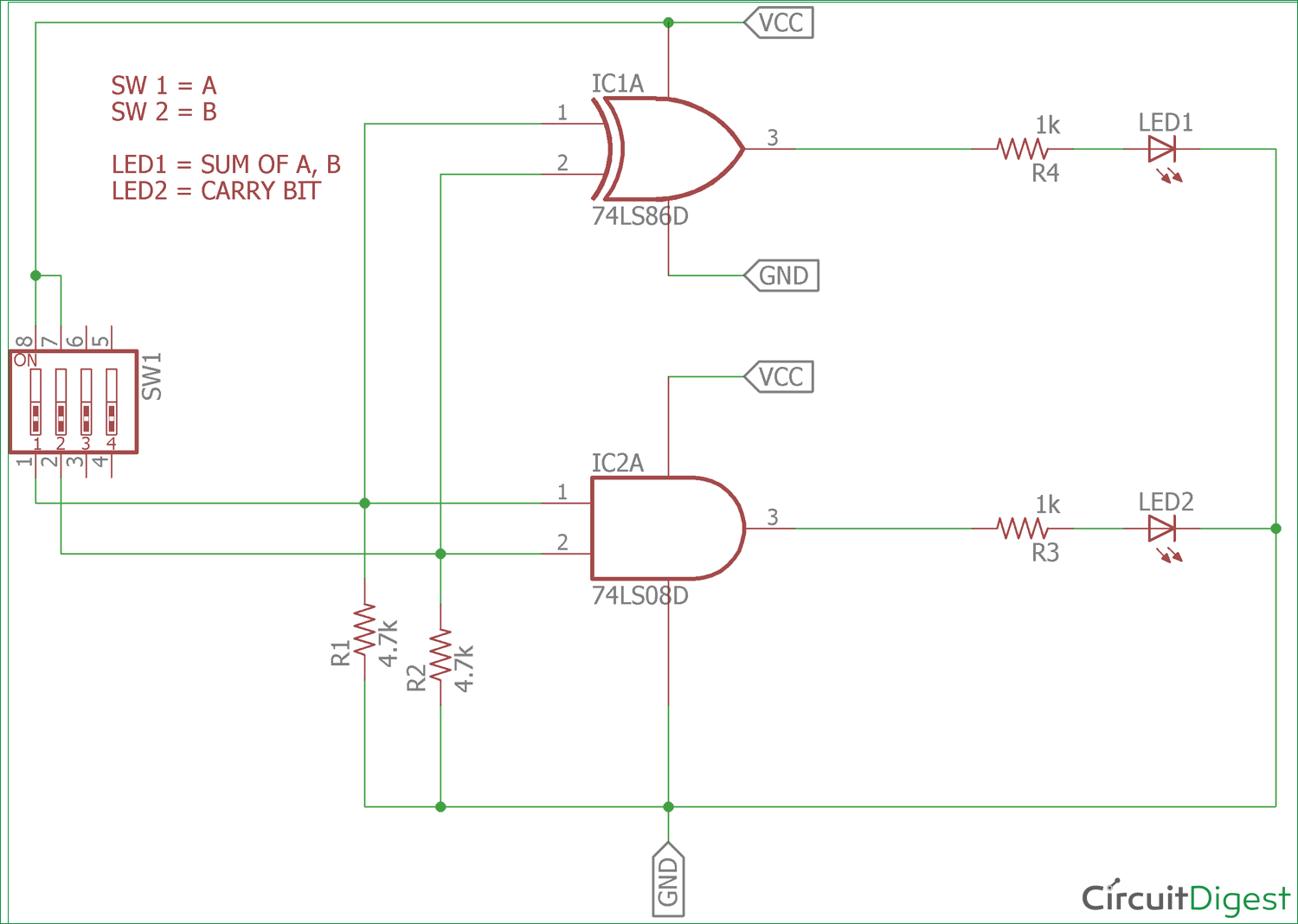 hight resolution of half adder circuit diagram