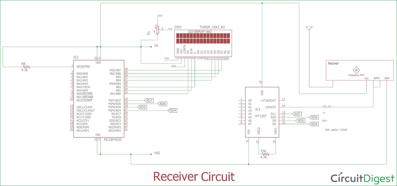 4x4 matrix keypad circuit diagram