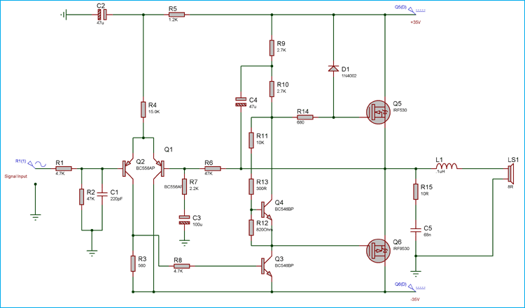 vectra b radio wiring diagram hunter ceiling fan 3 speed switch schematic power amplifier 50 watt circuit using mosfets50 mosfets