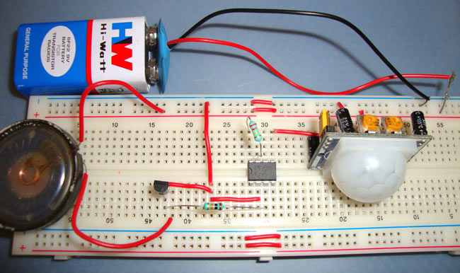 pir security light circuit diagram what does a climate summarize burglar alarm project with