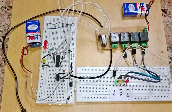 wiring diagram for home automation led light bar gom vipie de dtmf based project with circuit rh circuitdigest com system