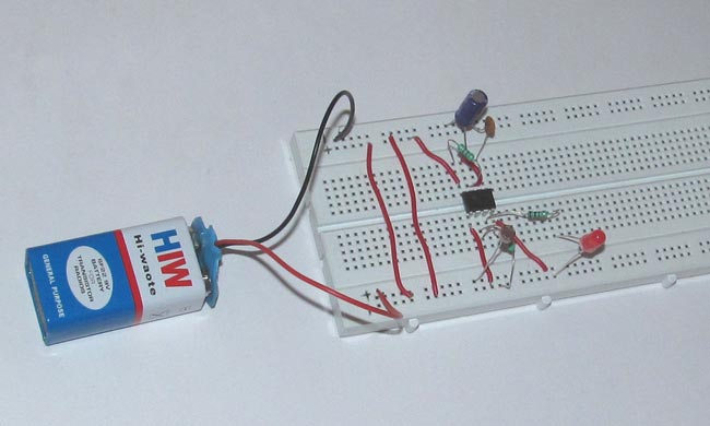 alarm circuit diagram moss labeled darkness detecting led using 555 timer ic: