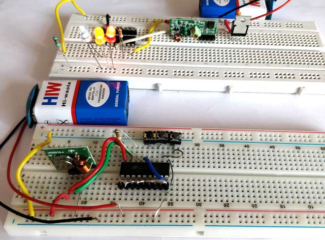 convert circuit diagram to breadboard house construction terms rf transmitter and receiver