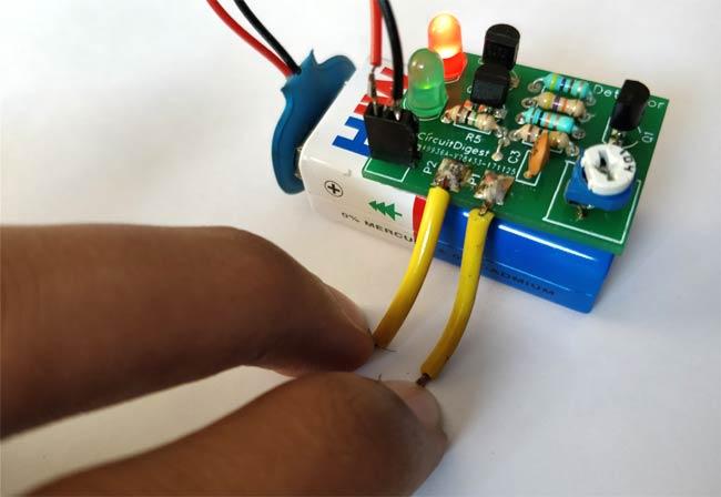 Screenshot Simple Electronic Lie Detector Circuit