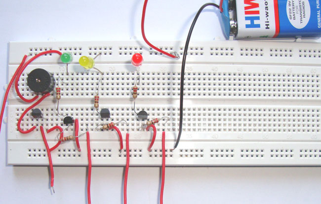 dld mini projects circuit diagram mitsubishi pajero wiring simple water level indicator alarm using transistors