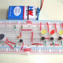 Convert Circuit Diagram To Breadboard Wiring For Automotive Voltmeter Simple Musical Leds Music Operated Dancing