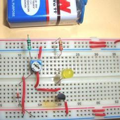 Thermistor Wiring Diagram 96 Chevy S10 Headlight Simple Heat Sensor Or Temperature Circuit