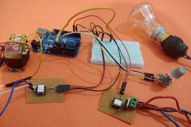 Triac Lamp Dimmer Circuit