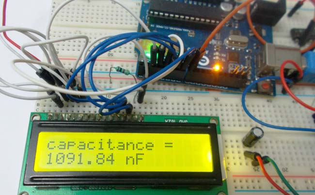 Making A Digital Capacitance Meter Using Microcontroller Embedded