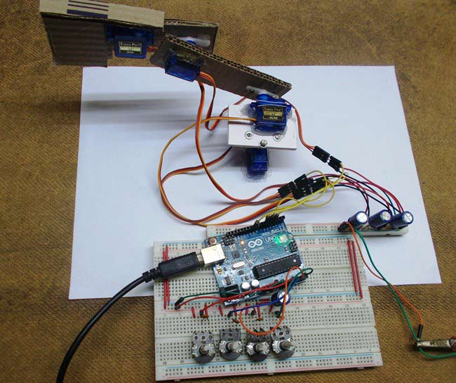 555 timer wiring diagram radio diagrams diy arduino robotic arm project with circuit & code