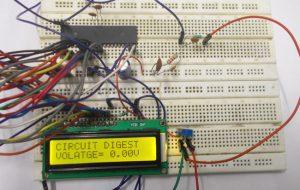 Digital Voltmeter using AVR Microcontroller (ATmega32): Circuit Diagram and C Code
