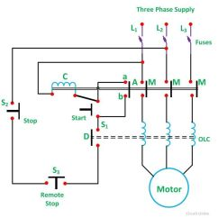 Motor Starter Wiring Diagram How Do You A Venn What Is Direct On Line Its Theory Of Starting Circuit Globe