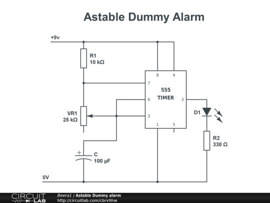 Astable Dummy Alarm