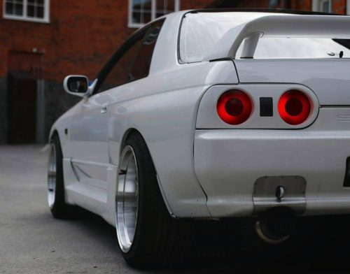 small resolution of nissan skyline gtr r32 featuring 18x10 5 cp25 wheels hyper black finish with 265 35 18 achilles tires