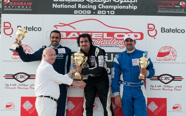 Mustafa Al Khan victorious in the 2009-10 season of the Batelco 2000cc Challenge