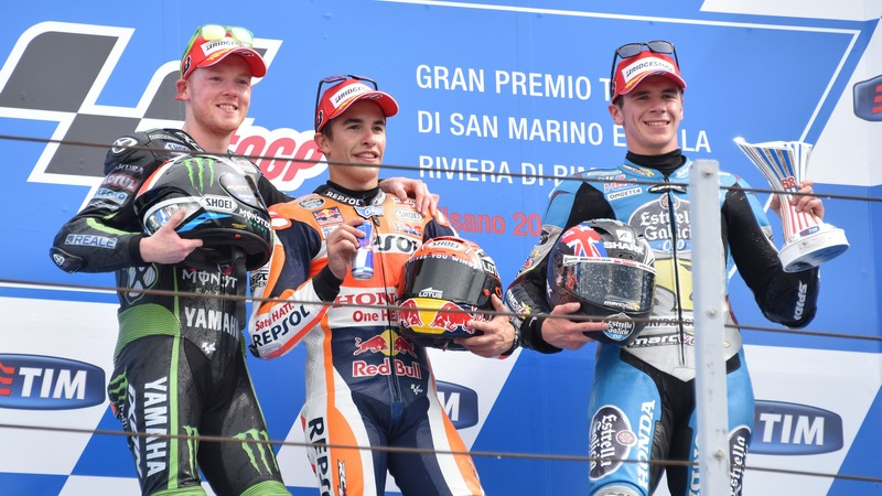 MotoGP: Marquez wins in Misano joining Brits Smith and Redding on podium