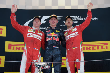 Verstappen enjoys the winners moment on his debut in F1
