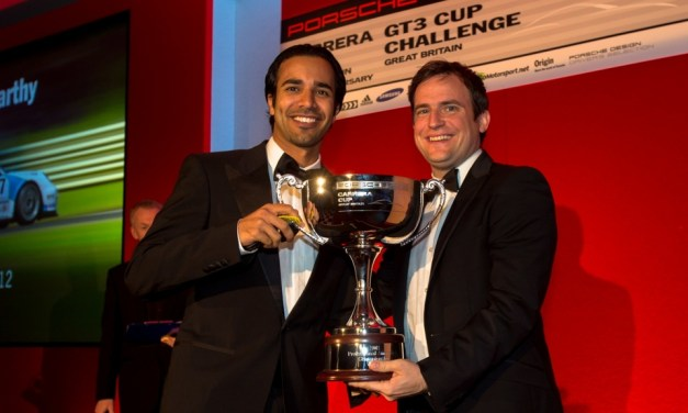 Porsche Carerra Cup: Oman driver Ahmed Al Harthy receives Porsche Carrera Cup GB Pro-Am1 winner's trophy